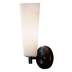 Robert Abbey - Rico Espinet Marina Wall Sconce - A sconce is a wonderful creation. No cables or cords. Just brushed chrome and frosted white glass. Simple, refined and looks elegant in a hallway or entryway.