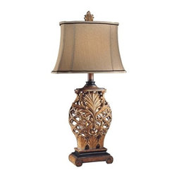 """Ambience - Ambience AM 10693 Table Lamp from the Jessica McClintock Home Collection - 1-150W Medium Base Bulb (Bulb Not Included) 3-Way SwitchDimensions:33""""H x 16.5""""W x 11""""D"""