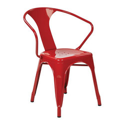 Office Star - Office Star Patterson Metal Chair in Red (Set of 2)-Set of 4 - Office Star - Dining Chairs - PTR2830A49 - Simple elegant chair featuring powder coated steel frame and stylish back design. Always ready to serve you with style these chairs are designed to provide comfort while adding elegance to your life. Elegant design with a modern touch. Fully assembled for your convenience these gorgeous Patterson Metal Chairs will serve for many years to come.