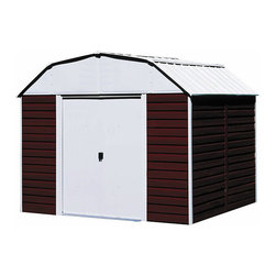 Arrow Sheds - Arrow Red Barn Steel Shed, 10 x 8 - Organize your lawn and garden equipment with an 10 x 8 steel shed by Arrow. This multipurpose shed is designed to look like a mini barn, with double doors to allow easy access. The steel construction will keep your tools safe from the weather.