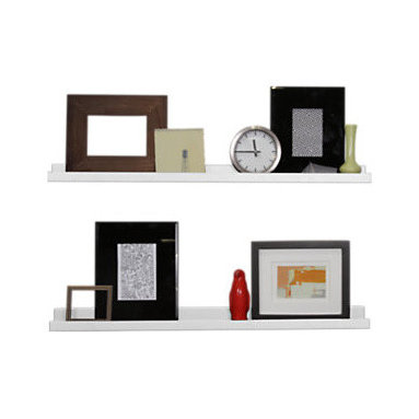 Smart Furniture - Smart Furniture Floating Photo Ledge, White, 36 Inches Wide - The Smart Furniture Floating Photo Ledge is a sleek floating shelf that is designed to proudly display photos to you and anyone who enters your home.  With multiple available sizes and colors, you can easily create a dynamic display for all those wonderful pictures of memories and people that make your life great.