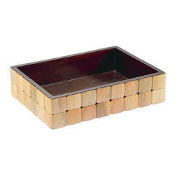Selamat Designs - Barclay Amenities Tray - Pine - Made up of individually finished offcut Pine tiles, the barclay gives off an air of distinction and hand crafted excellence.