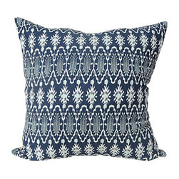 Home Decorators Collection - Tribal Ikat Pillow - Our Tribal Ikat Pillow features an eye-catching design of tribal shapes rendered in vivid colors. This comfortable cotton toss pillow makes a striking accent for a chair, sofa or bed. Coordinate with our other ikat pillows in the same color to create a unique look. Self backed. Polyester fill. Made in India.