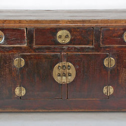 Antique Chinese Rustic Console Cabinet - Antique Chinese Rustic Console Cabinet