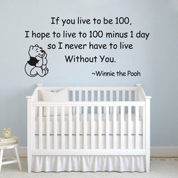 ColorfulHall Co., LTD - Kids Wall Decals  I Never Have to Live Without You - Kids Wall Decals  I Never Have to Live Without You