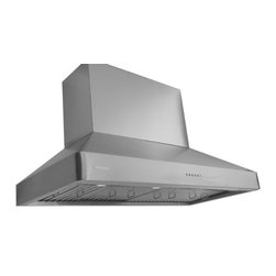 XtremeAIR - XtremeAir 48 Inch Wall Mount Stainless Steel Range Hood Dl08-W48 1600 Cfm - XtremeAir 48 Inch Wall Mount Range Hood with 1600 CFM Dual Ultra Quiet Motor, Centrifugal Squirrel Cage Blower, Seamless low profile radius corner dynamic shape, Slanted stainless steel baffle filters, Stainless Steel Oil CaptureTunnel, 4 speeds electronic soft touch buttons, Energy Efficient Led Lighting System.