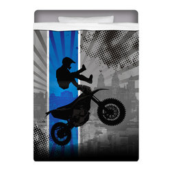 Extremely Stoked - Extremely Stoked Motocross Twin Size Sheet Set - Get Extremely Stoked and Dream In Extreme! Our Twin Size Motocross Sheet Set is made of a lightweight microfiber for the ultimate experience in softness~ extremely breathable!