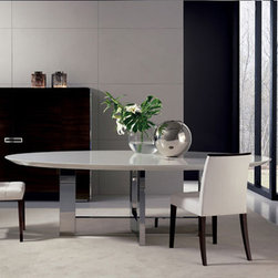 dining room tables - Modern collection of dining room tables, glass extension tables, kitchen tables and chairs available in numerous finishes, sizes, exotic woods, marbles, stones, lacquers and glass.