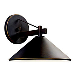 "Kichler - Kichler 49061OZ Ripley Collection 1 Light 10"" Outdoor Wall Light - Kichler 49061 Ripley Wall Lantern"