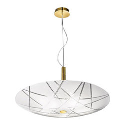 Kolarz - Top quality from Vienna - Kolarz - Top quality from Vienna Mikado 35 pendant lamp - Mikado 35 pendant lamp is part of a collection of High End light fixtures made in Vienna, Austria by Kolarz. This light series is designed by artistique minds using the finest materials, glass and metal, beeing a unique creation and fashioned to reflect individual personality and lifestyle. Mikado consists of a base hanging in the ceiling which sustains its lampshade made of a curved circular cutted glass with a mosaic pattern in a combination of colors between white and red, black and purple. Mikado is a classical light fixture handmade in two finishes, chrome plated and 24k gold plated. Combining its distinctive design with the highest quality of its materials the suspension light is a luxury path for both commercial and residential interiors. Illumination is provided by E14, 60W Incandescent bulb (not included).      Product Details: Mikado 35 pendant lamp is part of a collection of High End light fixtures made in Vienna, Austria by Kolarz. This light series is designed by artistique minds using the finest materials, glass and metal, beeing a unique creation and fashioned to reflect individual personality and lifestyle. Mikado consists of a  base hanging in the ceiling which sustains its lampshade made of a  curved circular cutted glass  with a mosaic pattern in a combination of colors between white and red, black and purple. Mikado is a classical light fixture handmade in two  finishes, chrome plated and 24k gold plated. Combining its distinctive design with the highest quality of its materials the suspension light is a luxury path for both commercial and residential interiors. Illumination is provided by E14, 60W  Incandescent  bulb (not included). Details:                         Manufacturer:            Kolarz                            Designer:            Kolarz                            Made in:            Austria                            Dimensions:            