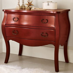 Daniella Chest - The pretty lines of this chest look even better in this holly berry tone. It would be fantastic in the entry, guest room, or even the living room — anywhere that could use a little hidden storage.