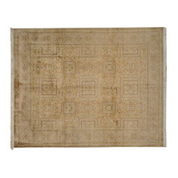 300 Kpsi Oriental Rug, 8'X10' Hand Knotted 100% Wool Pak-Persian Rug SH7165 - This collection consists of fine knotted rugs.  The knots per square inch means more material in the rug as well as more labor.  This leads to a finer rug and a more expoensive rug.  Classical and traditional persian motifs are usually used as designs in these rugs.