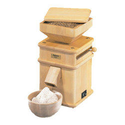 "TRIBEST CORP. - Tribest Hawos Mill 1 Grain Mill,8.3""L x 8.3""W x 15.2""H - Tribest Hawos Mill 1 Grain Mill features stone mill to create an ultra fine grind without the heat. The grindstones in this mill, are made of natural corundum stone that has been mixed with a special ceramic to create an ultra-hard stone that resists chipping and wearing. This grain mill unlocks all the nutrients and flavors of grains."