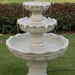 Outdoor Classics - Outdoor Classics 3-Tier Pineapple Garden Fountain -