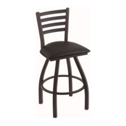 Holland Extra Large 410 Jackie Swivel Counter Stool - 25 in. - Black Wrinkle - B - Made in the USA, the Holland Extra Large 410 Jackie Swivel Counter Stool – 25 in. – Black Wrinkle – Black Vinyl Seat offers a better design and stronger construction than ordinary counter stools, including a commercial-quality, powder-coated steel frame with a weight capacity of up to 750 pounds. The swivel seat is upholstered in high-quality black vinyl, and provides the superior comfort and performance of high-density foam and thermal fiber. Graceful yet rugged, this is an ideal seating choice for any high-traffic kitchen or dining area.About Holland HardwoodsBuilt to last a lifetime, Great American Barstools are manufactured by Holland Hardwoods. Each stool is hand-assembled and finished by skilled craftsmen at the company's plant in Holland, Mich. Founded more than 15 years ago, Holland is proud of its commitment to the highest-quality products and excellent customer service. Barstools are available for both home and commercial use in a wide variety of styles and finishes. You will find exactly what you need with Great American Barstools.