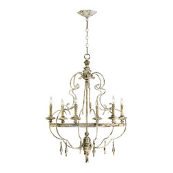 """Cyan Design - Cyan Design Davinci Six Light Chandelier - Our lighting collection from Cyan Designs features a wide range of styles from modern to classic. Well-made and versatile, it's a great solution for your lighting needs. Cyan Design Davinci 6lt Chandelier. 35""""(h) x 25.5""""(dia.) . UL approved. Assembly Required.  Bulbs not included. 60 Watts."""