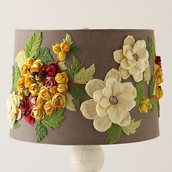 Anthropologie - Rose Landscape Shade - If your room is full of light neutrals, this lamp shade is a perfect pop of color!