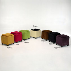 Armen - Microfiber Storage Ottoman - Bring extra storage and comfort to your home with this microfiber storage ottoman. This ottoman is framed with real wood. Its reversible top can perform as extra seating or a serving tray. It features a contemporary look and a variety of color options.