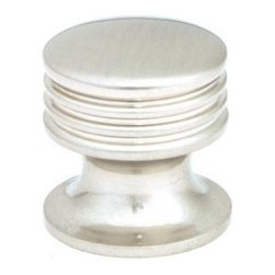 Q.M.I. - Ringed Round Knob in Satin Nickel (Set of 10) - Includes mounting screws. Decorative. Easy to install. Limited lifetime warranty. Made from zinc. 1 in. Dia. x 1.13 in. HAdd the finishing touches to your new vanity or cabinets or instantly update the look of your room with this hardware. Our cabinet knobs beautifully compliment any homes decor.