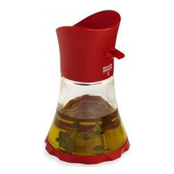 Kuhn Rikon - Kuhn Rikon Vase Cruet Oil/Vinegar - Red - Try something new! Oil and Vinegar aren't just for salads - try pouring over vegetables, pasta, grains or even fruits.