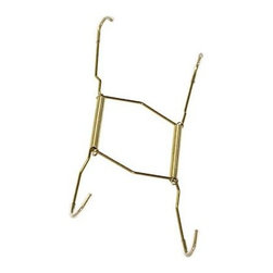 OOK Brass and Gold Deluxe Plate Hanger - Hang plates the traditional way with metal plate hangers. These hug your plates and make them easy to put up on the wall.