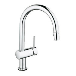 Grohe - Grohe 31359 000 Minta Touch Electronic Single Handle Kitchen Faucet with Pull Ou - Grohe 31359 000 Minta Touch Electronic Single Handle Kitchen Faucet with Pull Out Spray, Chrome Fall in love with the GROHE Minta Touch. With its innovative EasyTouch technology, it intuitively reacts to your touch. GROHE award winning design and German engineering. Modern, timeless and beautiful, love at first touch. Grohe 31359 000 Minta Touch Electronic Single Handle Kitchen Faucet with Pull Out Spray, Chrome Features: Touch the faucet at any point with your wrist, back of your hand, or elbow to turn faucet On or Off Locking Push Button Control to switch from regular flow to spray GROHE SilkMove ceramic cartridge ensures precise temperature adjustment Also provides smooth, near friction-free performance SpeedClean anti-lime system Ergonomic pull-down spray offers full sink coverage Convenient faucet height allows clearance to wash tall pots Automatic return to flow straightener Stainl