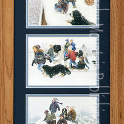 Rocky Mountain Publishing - Snowball Fights, Robert Duncan Country Wall Art Framed Set - Bring  the  joy  of  winter  indoors  with  the  Snowball  Fights  Triple.  This  country  wall  art  collection  includes  images  of  children  at  play  on  a  snow  day  and  in  snapshots  of  a  snowball  fight.  This  would  be  a  great  gift  for  the  collector  who  loves  outdoor  art  or  art  that  depicts  real  life  moments.  These  images  show  the  thrill  and  excitement  of  children  as  well  as  combine  the  natural  elements  of  snowy  winter  scenes.                  Dimensions:  Glass  and  Matting  measure  10x20  inches;  Exterior  Frame  dimensions  approximately  16x26  inches              Handsomely  matted  and  framed              Hardware  for  hanging  is  pre-installed              Treated  with  a  protective  coat  of  acid-free  sealant              Artist:  Robert  Duncan;  Allow  2  weeks  for  shipping