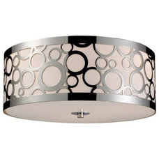 Contemporary Ceiling Lighting ELK Lighting Retrovia Flush Mount Ceiling Light, Polished Chrome