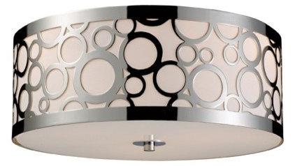 Contemporary Flush-mount Ceiling Lighting ELK Lighting Retrovia Flush Mount Ceiling Light, Polished Chrome
