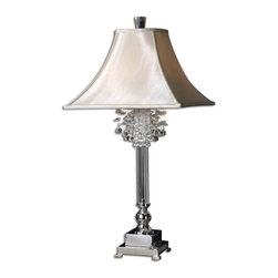 Uttermost - Uttermost 26927 Fascination Table Lamp - This lamp features silver plated metal with crystal accents.