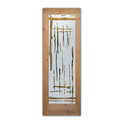 "Interior Glass Doors - Frosted Semi Private SWING - CUSTOMIZE YOUR INTERIOR GLASS DOOR!  Interior glass doors ship for just $99 to most states, $159 to some East coast regions, custom packed and fully insured with a 1-4 day transit time.  Available any size, as interior door glass insert only or pre-installed in an interior door frame, with 8 wood types available.  ETA will vary 3-8 weeks depending on glass & door type.........Block the view, but brighten the look with a beautiful interior glass door featuring a custom frosted glass design by Sans Soucie!   Select from dozens of sandblast etched obscure glass designs!  Sans Soucie creates their interior glass door designs thru sandblasting the glass in different ways which create not only different levels of privacy, but different levels in price.  Bathroom doors, laundry room doors and glass pantry doors with frosted glass designs by Sans Soucie become the conversation piece of any room.   Choose from the highest quality and largest selection of frosted decorative glass interior doors available anywhere!   The ""same design, done different"" - with no limit to design, there's something for every decor, regardless of style.  Inside our fun, easy to use online Glass and Door Designer at sanssoucie.com, you'll get instant pricing on everything as YOU customize your door and the glass, just the way YOU want it, to compliment and coordinate with your decor.   When you're all finished designing, you can place your order right there online!  Glass and doors ship worldwide, custom packed in-house, fully insured via UPS Freight.   Glass is sandblast frosted or etched and bathroom door designs are available in 3 effects:   Solid frost, 2D surface etched or 3D carved. Visit our site to learn more!"