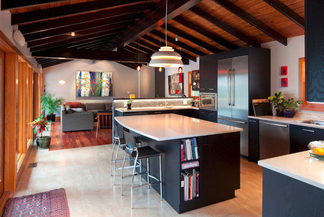 Contemporary Kitchen by In Residence Design Group Inc.