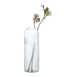 Artenica - tranSglass Two Hole Vase - Matte Finish - Rethink your notions of an everyday vase with this innovative, ecofriendly design. This vase gives you the choice of two openings to let your flowers bloom from, and lets you own a piece of art history, as it is included in MoMA New York's permanent collection. This sleek, matte vase is crafted from recycled glass and available in several chic colors: Green, dark green, olive green, clear or brown.