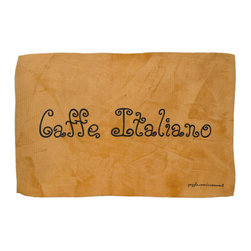Caffe Italiano Tuscan Orange Kitchen Towel Home Accessories - Corbin Henry