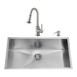 VIGO Industries - VIGO Undermount Stainless Steel Kitchen Sink, Faucet, Colander, Strainer and Dis - VIGO keeps your needs in mind when it comes to kitchen essentials.
