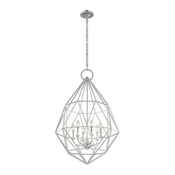 Murray Feiss - Murray Feiss Marquise Modern / Contemporary Chandelier X-VLS6/2492F - Capturing the fun of contemporary crystal and designed to follow the cut of a marquise diamond, the Marquise Collection has a delicate, exposed metal frame adorned with a silver leaf application and then finished with a string of hand-applied crystal beading to grab the warm light and make a dynamic sparkle. Available in either a Silver finish with Clear color crystals or Burnished Silver finish with Champagne color crystals.