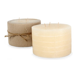 Unscented Rustic Layered Ivory Pillar - Set of 2 - Nothing invites just the right ambiance like the soft flicker of pillar candles perfectly setting the mood for a casual night in or a night of entertaining your most beloved guests. Whether used to fill the perfect lantern, placed upon large baroque candlestick or used in a grouping within a large glass hurricane, Fume pillar candles are the ideal finishing touch to any decorated space. Made with high quality, clean burning, long lasting, unscented wax and sold in multiples, these candles always seem to be in need.