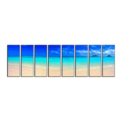 Vibrant Canvas Prints - Canvas Art Prints, Framed 3 Panel Rose Flower on Canvas Photo Prints - This is a beautiful, 100% quality cotton canvas print. This print is perfect for any home or office, and will make any room shine with its addition of color and beauty.  - Free Shipping - Modern Home and Office Interior Decor   Seascape Canvas Designs - 8 Panel Print   Sea Beach Nature Print on Canvas - Wall Art - 30 Day Money Back Guarantee.