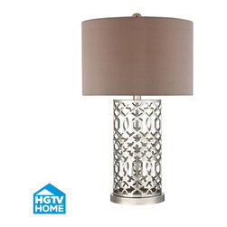 Dimond Lighting - Dimond Lighting HGTV337 London 1 Light Table Lamps in Polished Nickel - Metal Table Lamp