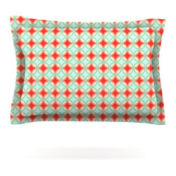 """Kess InHouse - Catherine McDonald """"Retro Circles"""" Pillow Sham (Woven, 30"""" x 20"""") - Pairing your already chic duvet cover with playful pillow shams is the perfect way to tie your bedroom together. There are endless possibilities to feed your artistic palette with these imaginative pillow shams. It will looks so elegant you won't want ruin the masterpiece you have created when you go to bed. Not only are these pillow shams nice to look at they are also made from a high quality cotton blend. They are so soft that they will elevate your sleep up to level that is beyond Cloud 9. We always print our goods with the highest quality printing process in order to maintain the integrity of the art that you are adeptly displaying. This means that you won't have to worry about your art fading or your sham loosing it's freshness."""