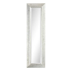 Cooper Classics - Cooper Classics Claire Mirror, Brushed Silver - -Brushed silver finish