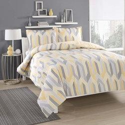 City Loft Limoncello Cotton Reversible 3-piece Comforter Set -