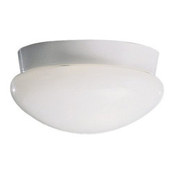 BUILDER - KICHLER 8102WHFL Energy Efficient Flush Mount Ceiling Light - Clean finishes accentuate the clean, contemporary curves of this Kichler Lighting flush mount ceiling light. Paired with energy efficiency, the White finish and coordinating white clip on glass shade ensure this fixture will compliment a variety of needs and spaces. 75&#176: C wire rated.
