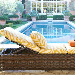 'Zebra' Outdoor Chaise - There is no better way to lounge around the pool than on this zebra printed chaise lounge. I could picture myself relaxing here for hours.