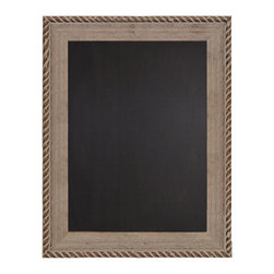 "Enchante Accessories Inc - Decorative  Wood Framed Chalkboard 22"" x 28"" (Natural) - This message board features a distressed wooden framed chalkboard."