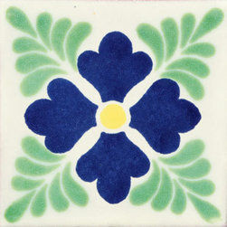 """Casa Daya Tile - 12 Hand Painted Made to Order Talavera Tile Set - Set of twelve 4"""" x 4"""" tiles for your craft or construction project."""