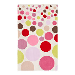 Safavieh - Kids Ivory and Multi Rectangle: 5 Ft. In. x 8 Ft. In. Area Rug - - This hand tufted is made with premium New Zealand wool lending a lush and warm feel that will go great in any child's play area or bedroom.  - Color: Ivory and Multi  - Pile Height: 0.625  - Material: Wool  - Weave: Hand Tufted Safavieh - SFK223A-5