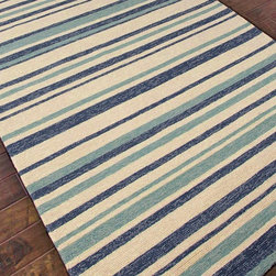 Outdoor Indoor Varying Stripes Rugs: 4 Colors -