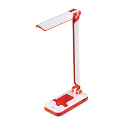 Black & Decker - Black and Decker Led Fold Desk Lamp, 2 Prong, 17 1/2, White/Red - True LED lighting technology brings text and colors to life.