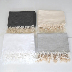 Hammam Hand Towel - Looking for a way to make your bathroom feel more like a spa? Hamman towels are based off of the towels of traditional Turkish baths. A smaller version of the Hamman Towel, these towels would complement any bathroom.